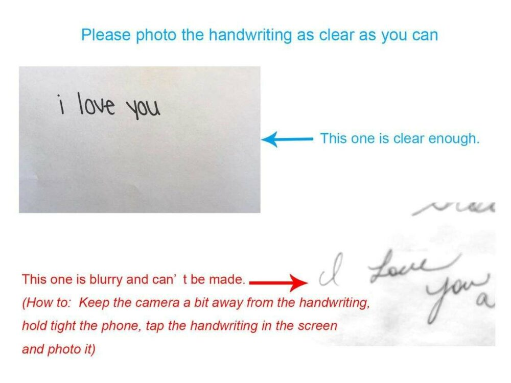 clear handwriting picture