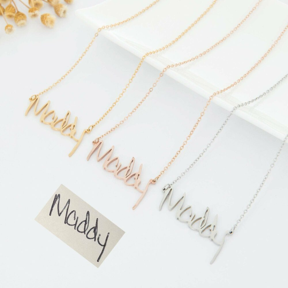 Actual handwriting necklace FM 238-6