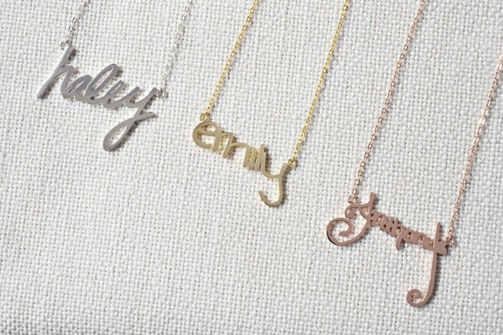 Actual handwriting necklace FM 238-8