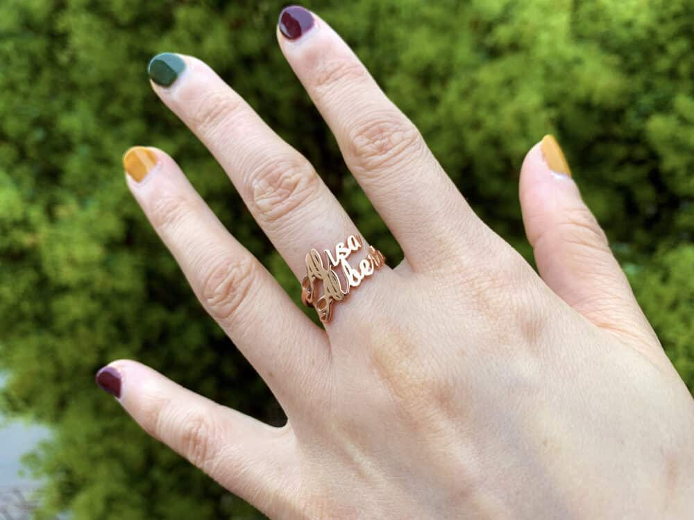 Double Name Ring FM 227-4