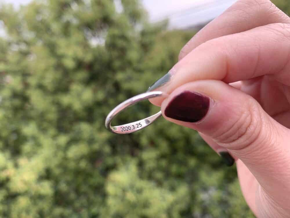Personalized Stacking Ring FM 233-7