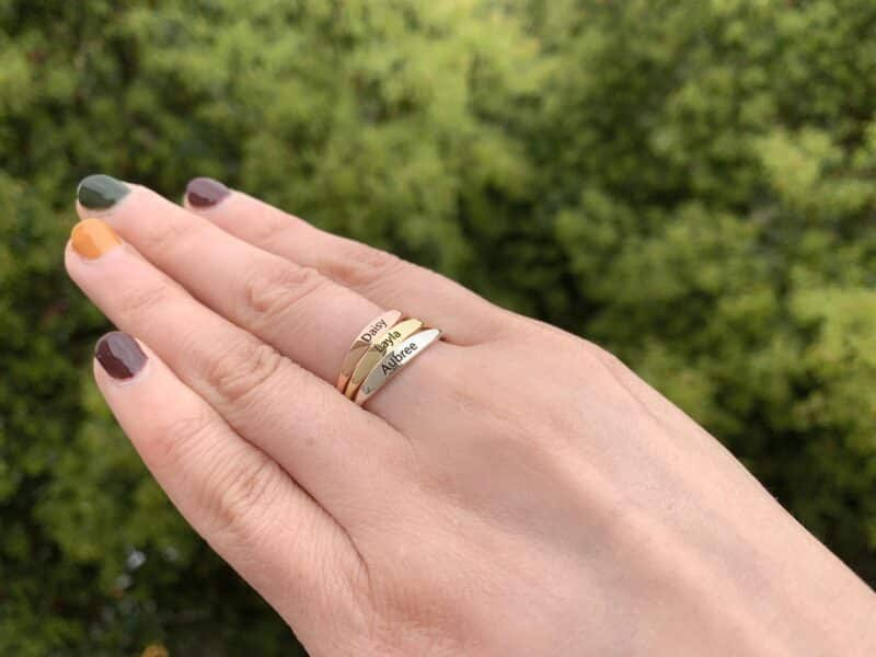 Personalized Stacking Ring FM 233-9