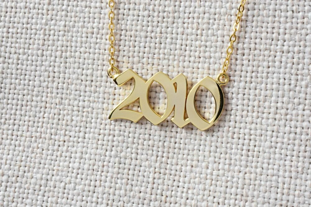Personalized year necklace FM 235-1