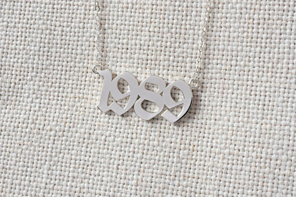Personalized year necklace FM 235-3