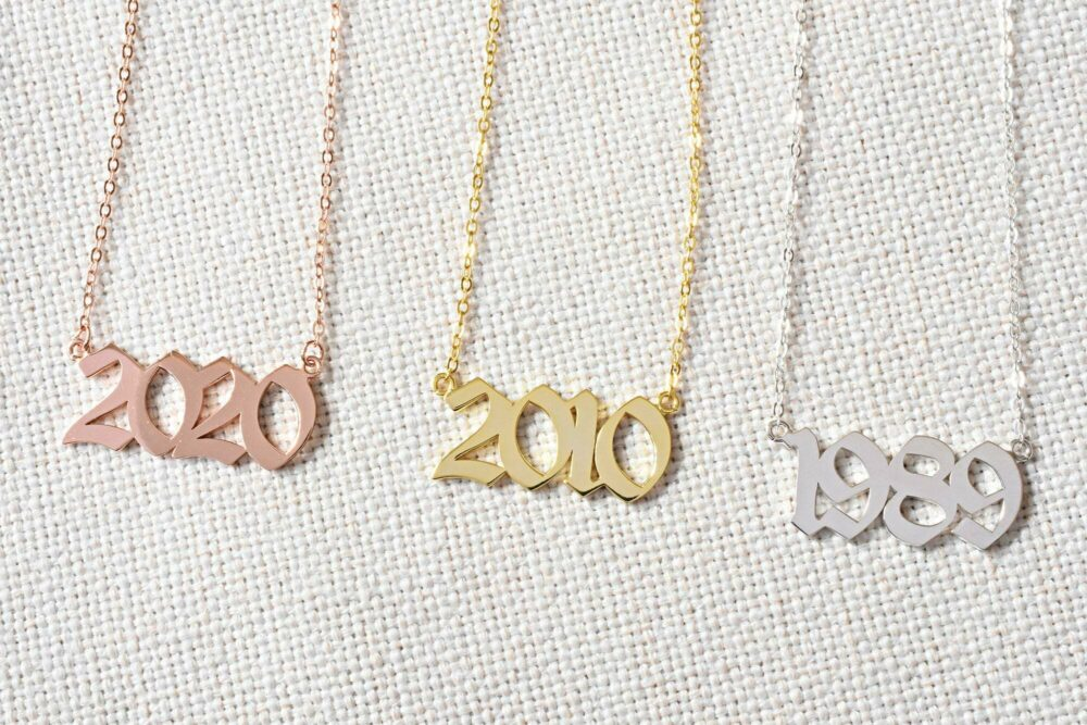 Personalized year necklace FM 235-4