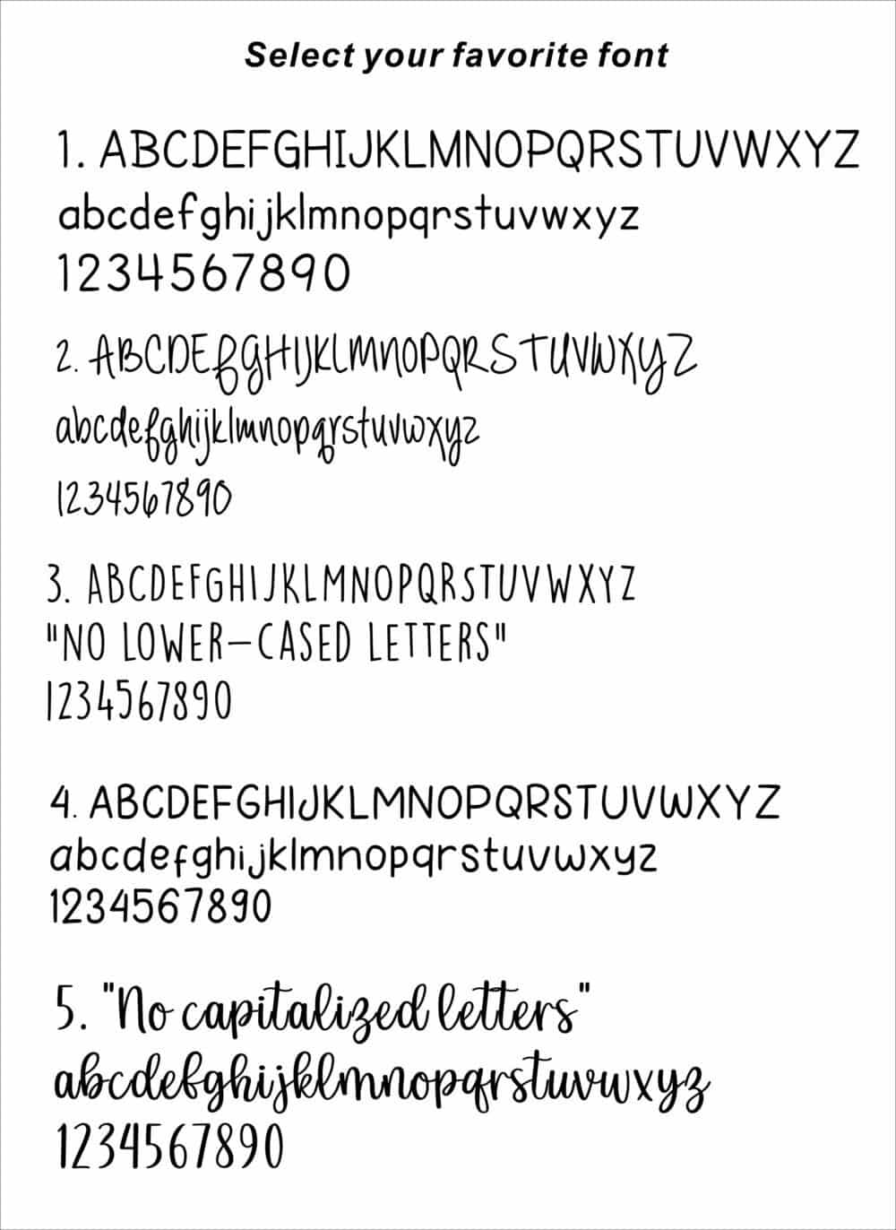 mountain keychain font selection